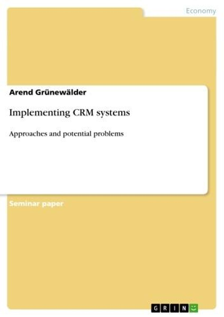 Implementing CRM systems