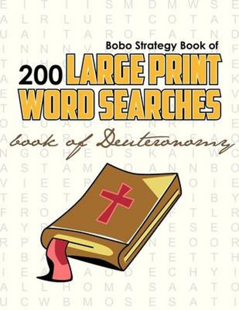 Bobo Strategy Book of 200 Large Print Word Searches