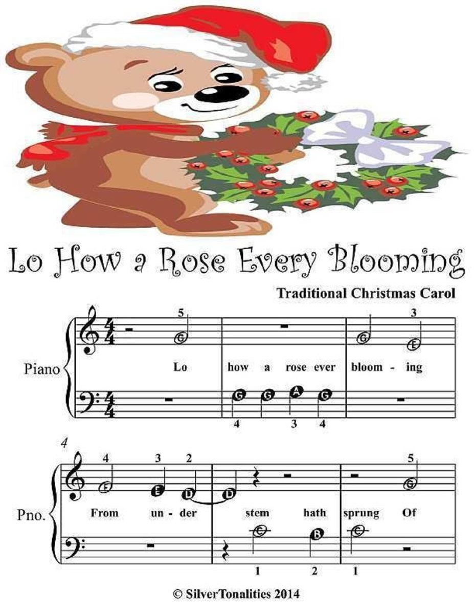 Lo How a Rose Ever Blooming - Beginner Tots Piano Sheet Music