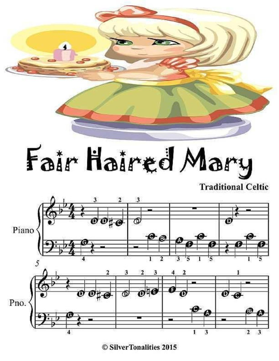 Fair Haired Mary - Beginner Tots Piano Sheet Music