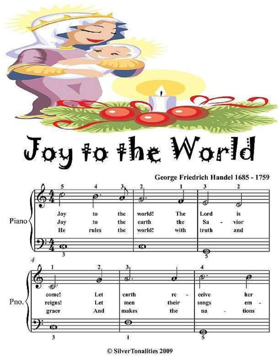 Joy to the World - Easiest Piano Sheet Music Junior Edition