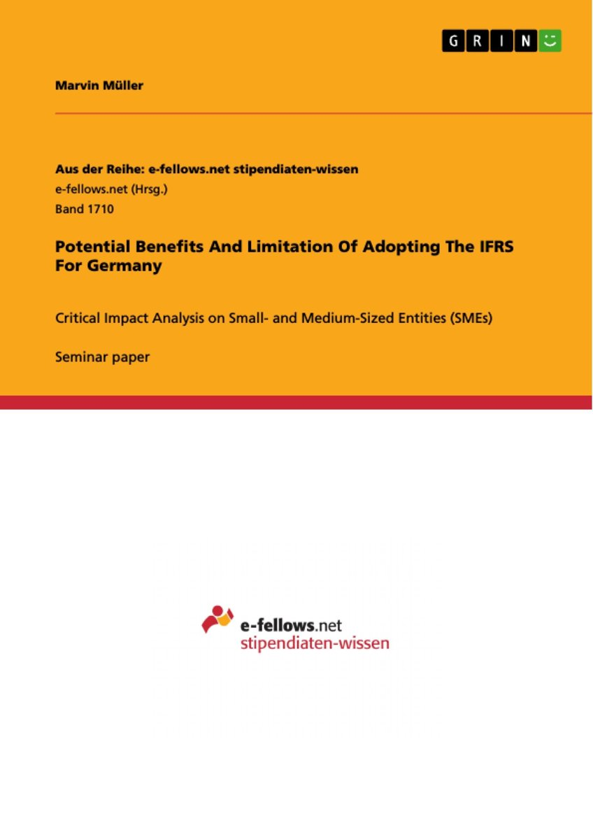 Potential Benefits And Limitation Of Adopting The IFRS For Germany