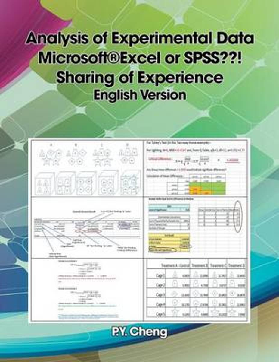 Analysis of Experimental Data Microsoft(r)Excel or SPSS ! Sharing of Experience English Version