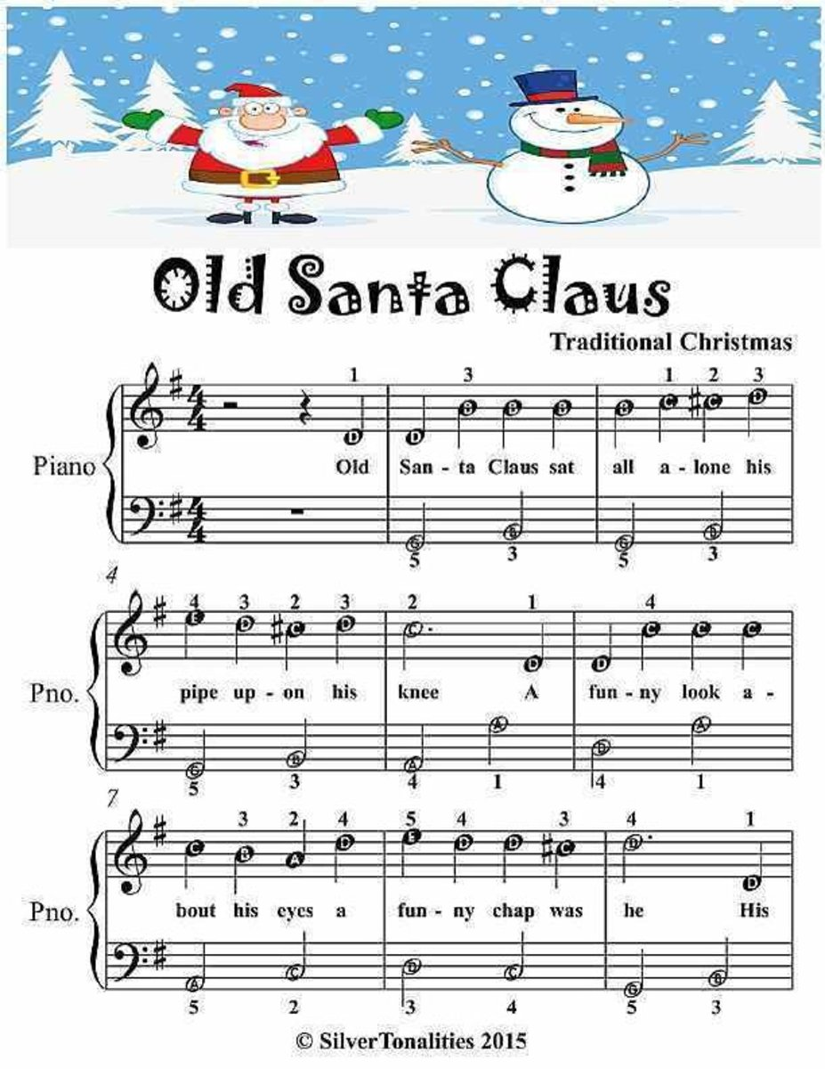 Old Santa Claus - Easiest Piano Sheet Music Junior Edition