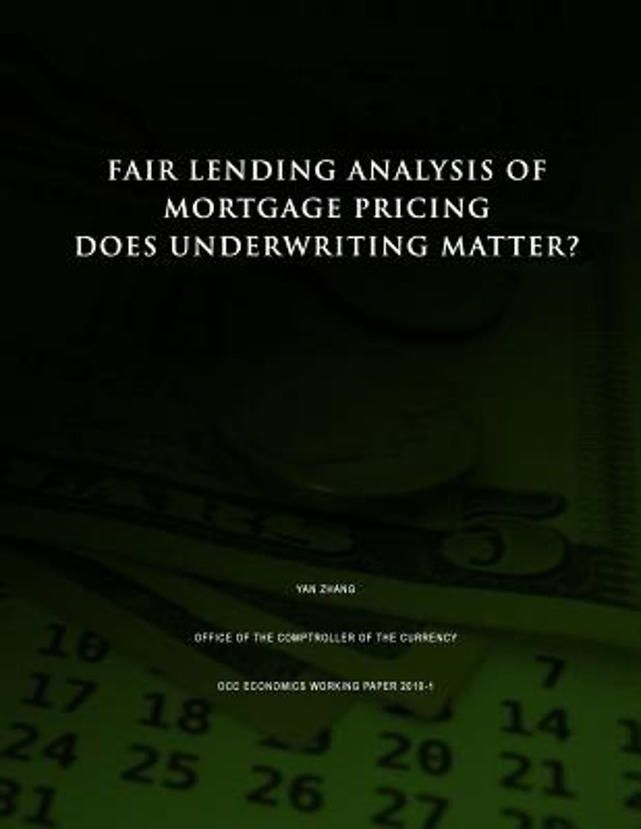 Fair Lending Analysis of Mortgage Pricing