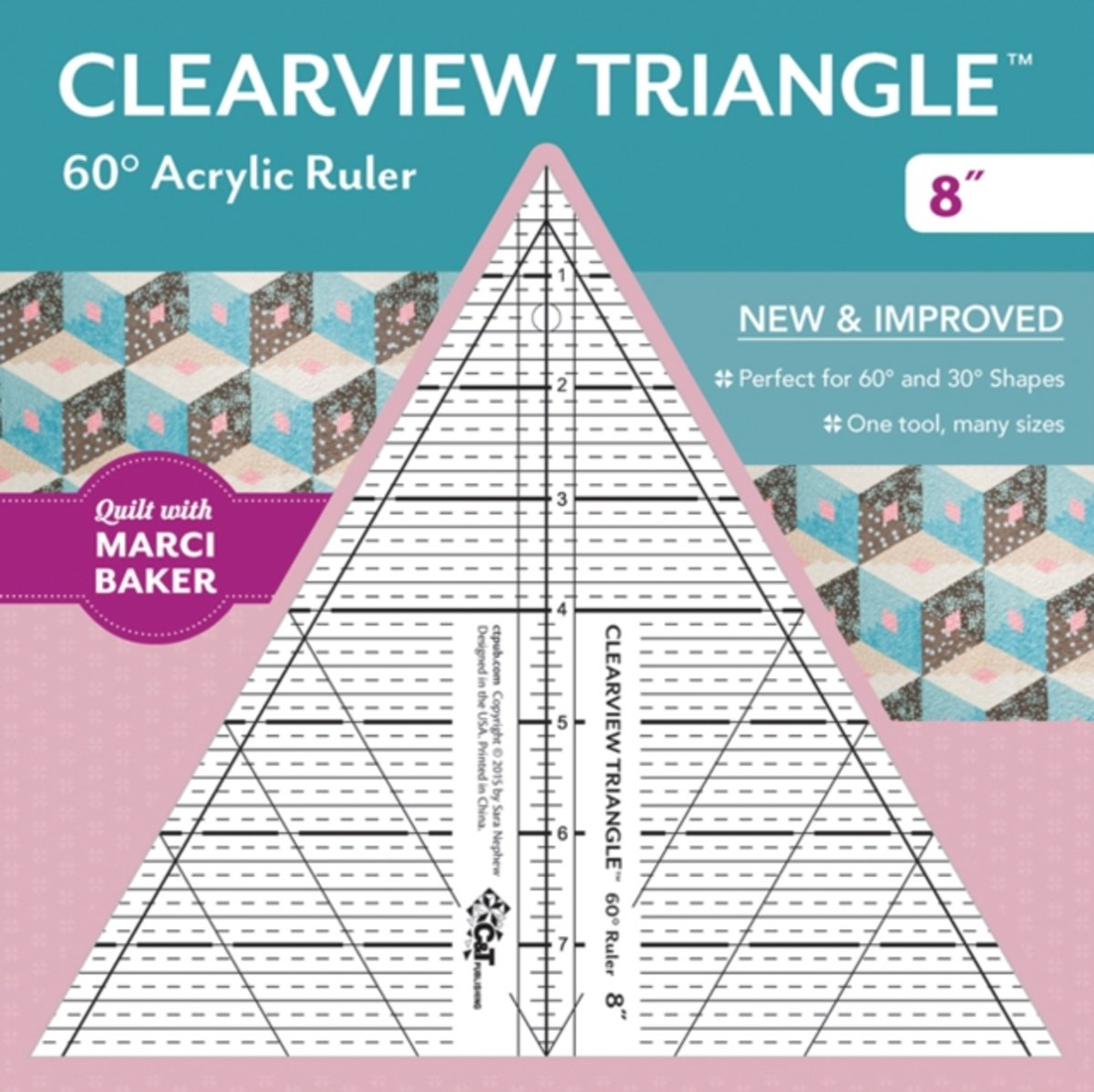Clearview Triangle(tm) 60� Acrylic Ruler--8''