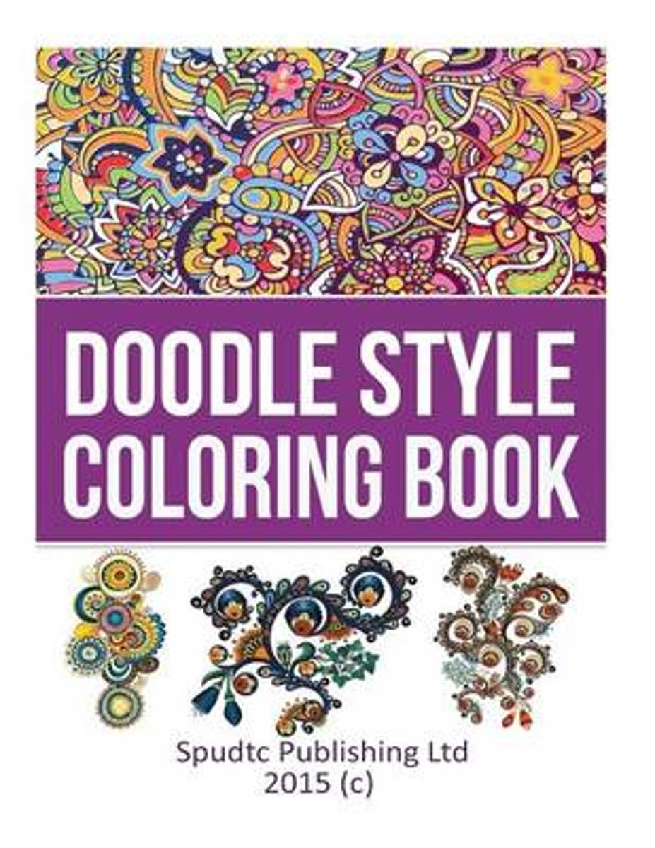 Doodle Style Coloring Book