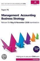 Cima Official Learning System Management Accounting Business Strategy