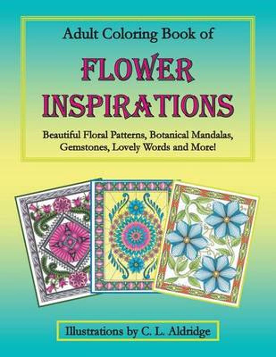 Adult Coloring Book of Flower Inspirations