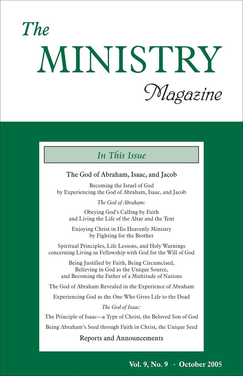 The Ministry, Vol. 9, No. 9