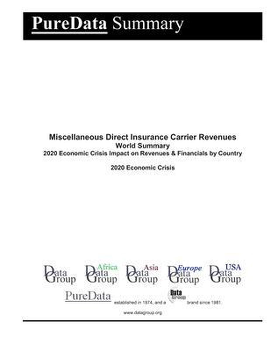 Miscellaneous Direct Insurance Carrier Revenues World Summary