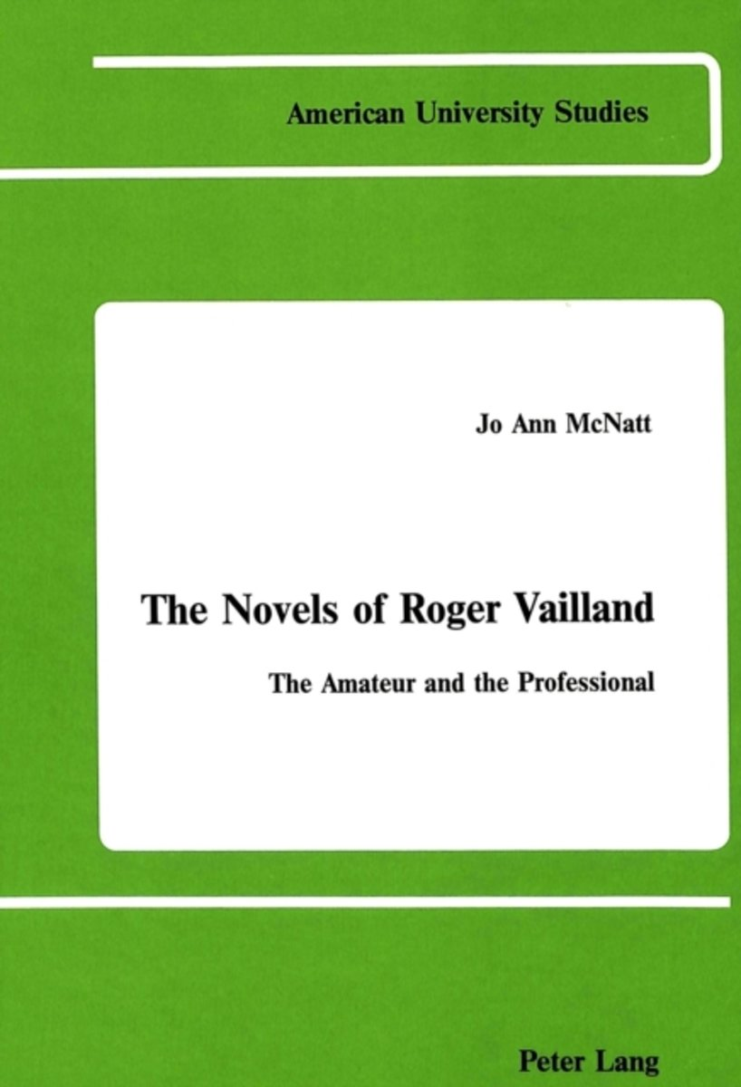 The Novels of Roger Vailland