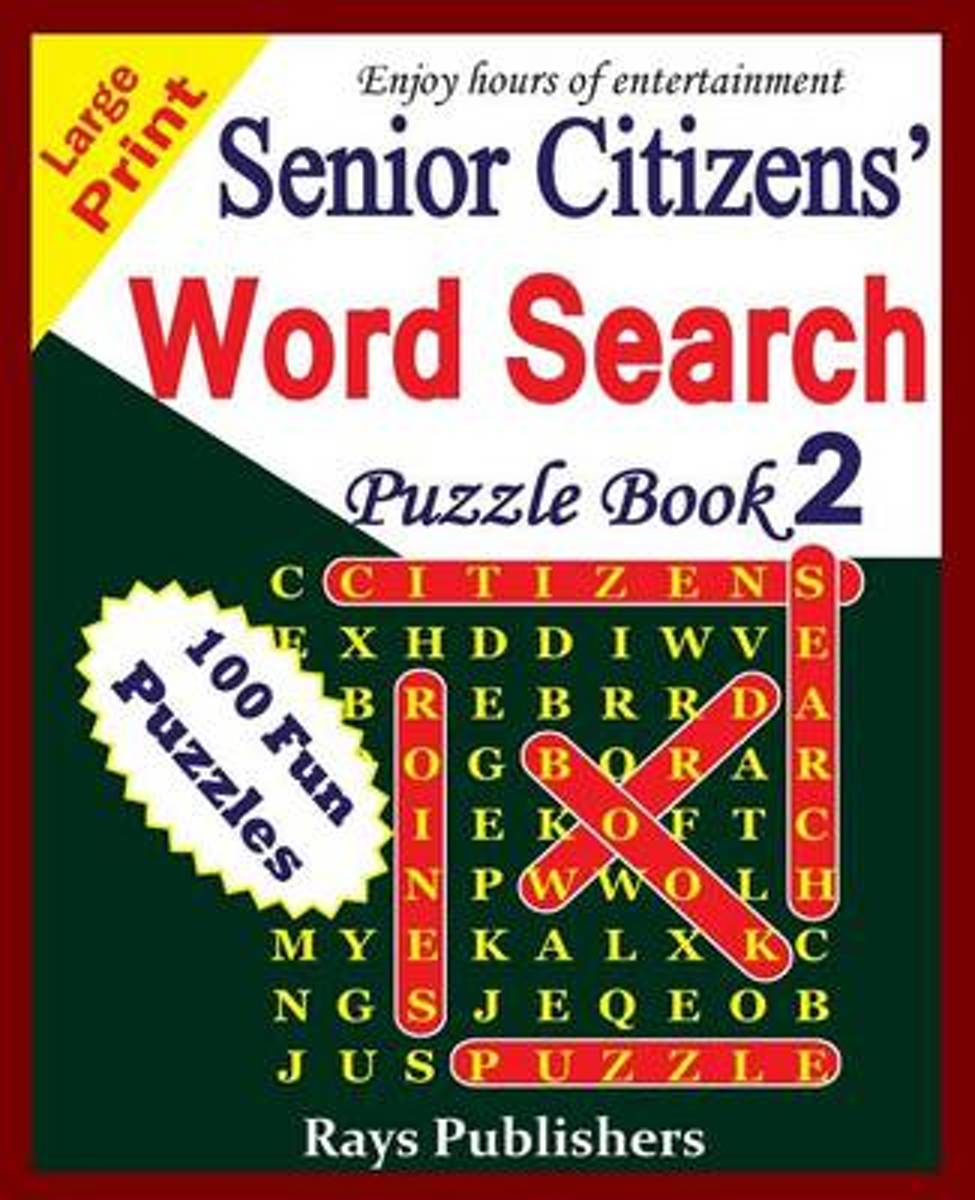 Senior Citizens' Word Search Puzzle Book 2
