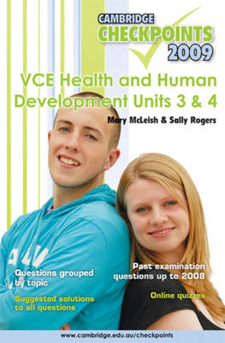 Cambridge Checkpoints VCE Health and Human Development Units 3 and 4 2009