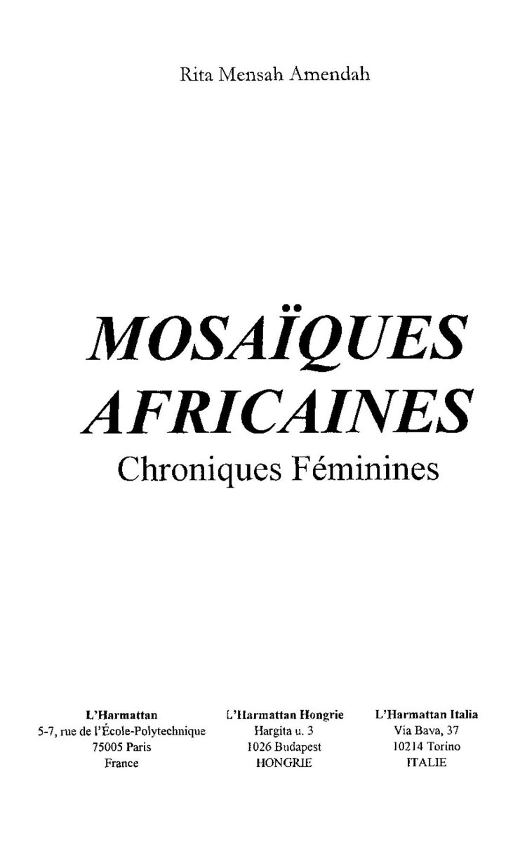 MOSAÏQUES AFRICAINES