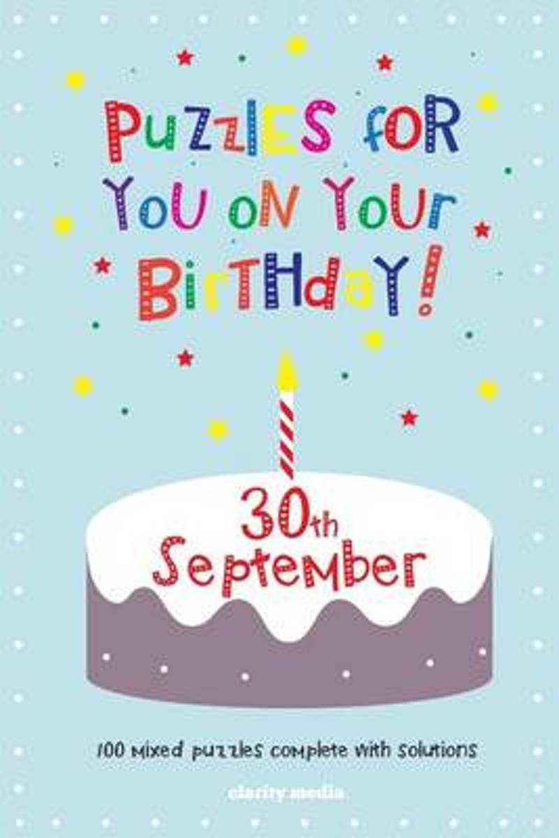 Puzzles for You on Your Birthday - 30th September