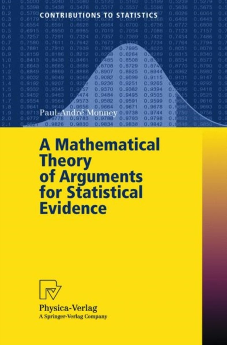 A Mathematical Theory of Arguments for Statistical Evidence