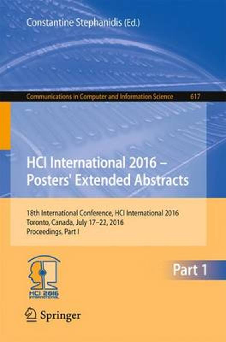 HCI International 2016 - Posters' Extended Abstracts