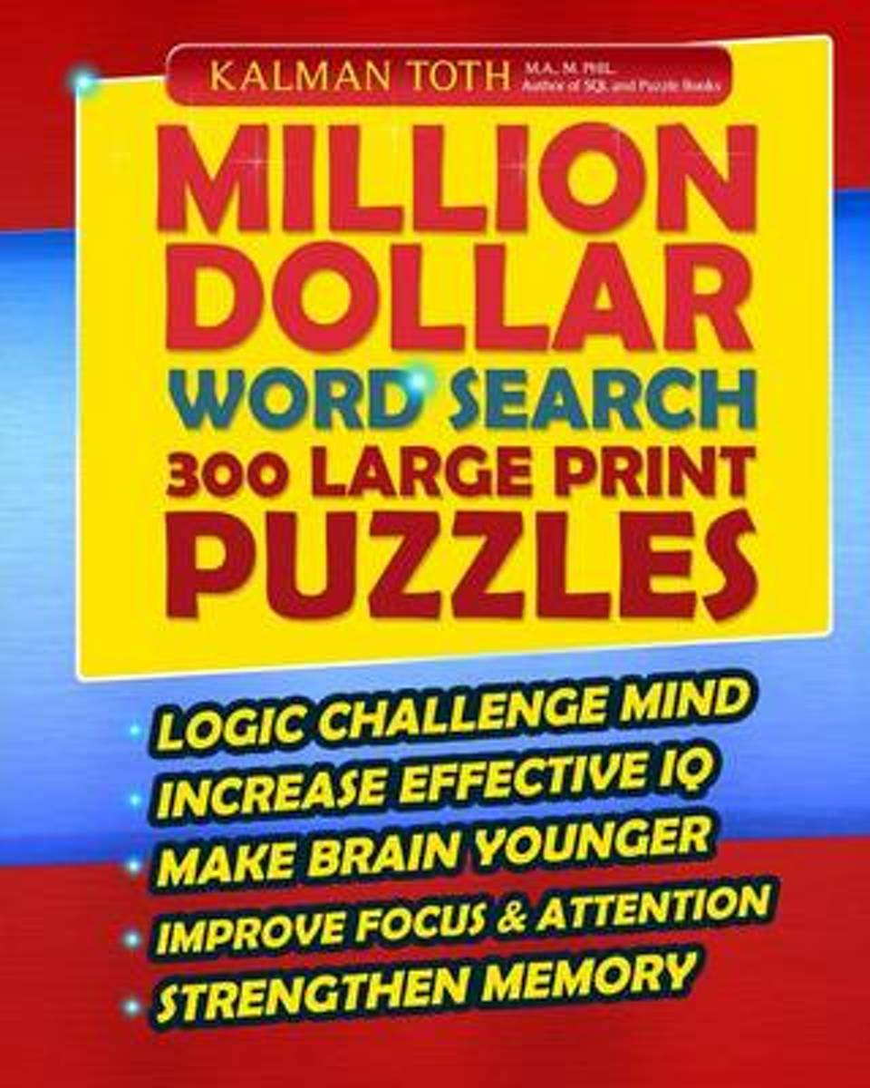 Million Dollar Word Search 300 Large Print Puzzles