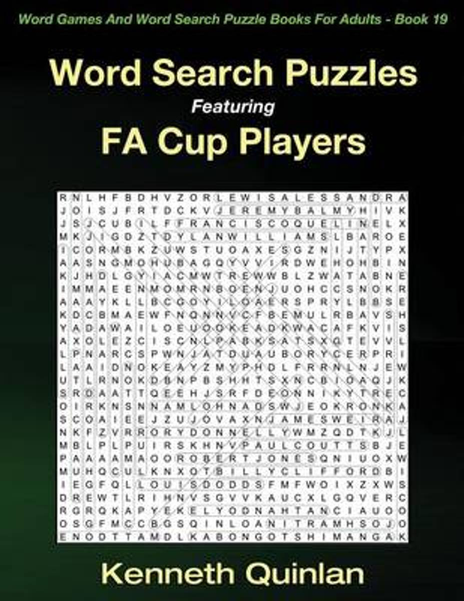 Word Search Puzzles Featuring Fa Cup Players