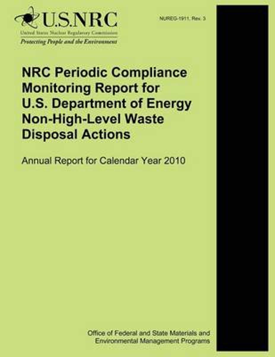 NRC Periodic Compliance Monitoring Report for U.S. Department of Energy Non-High-Level Waste Disposal Actions