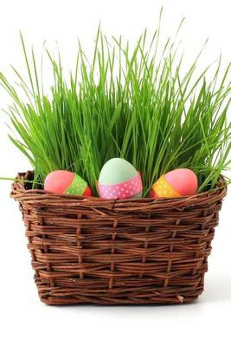 Colored Eggs in an Easter Basket Joural