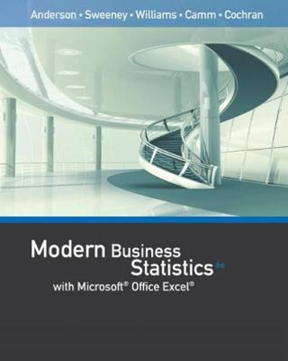 Modern Business Statistics with Microsoft (R) Office Excel (R) (with XLSTAT Education Edition Printed Access Card)