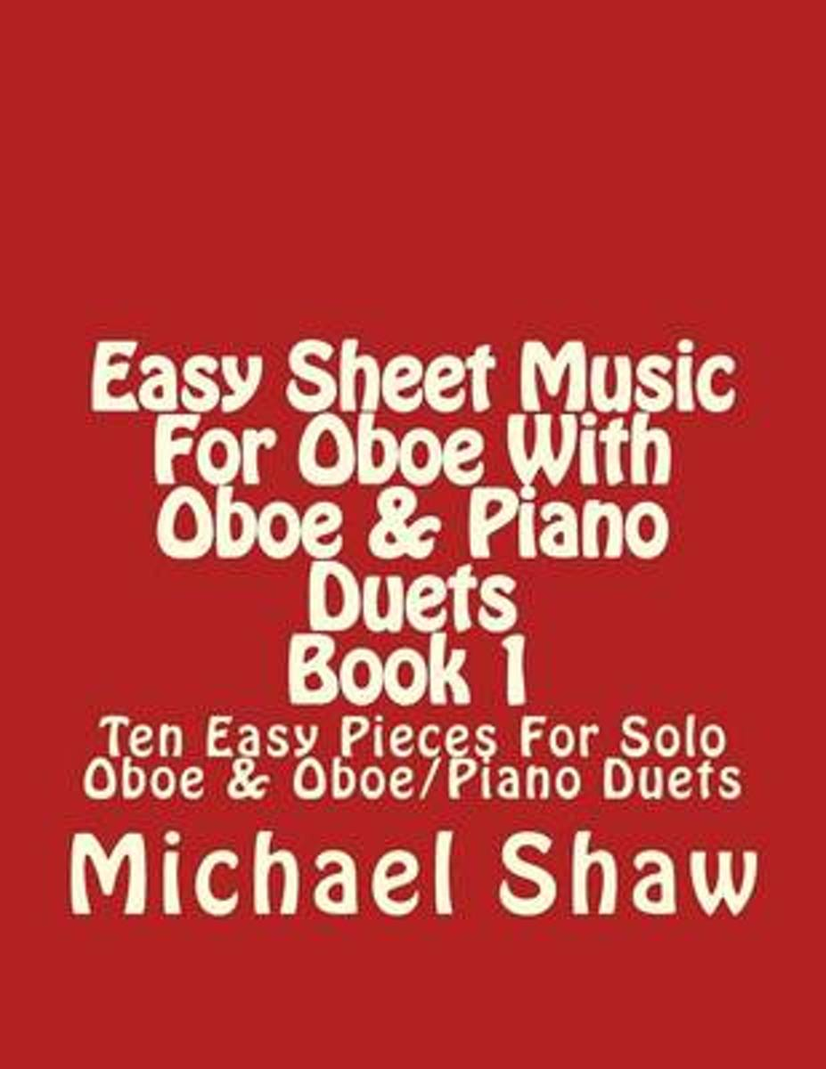 Easy Sheet Music for Oboe with Oboe & Piano Duets Book 1