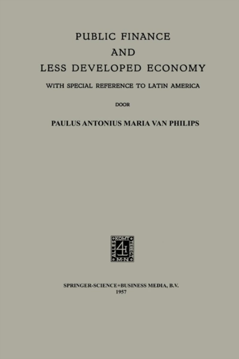 Public Finance and Less Developed Economy