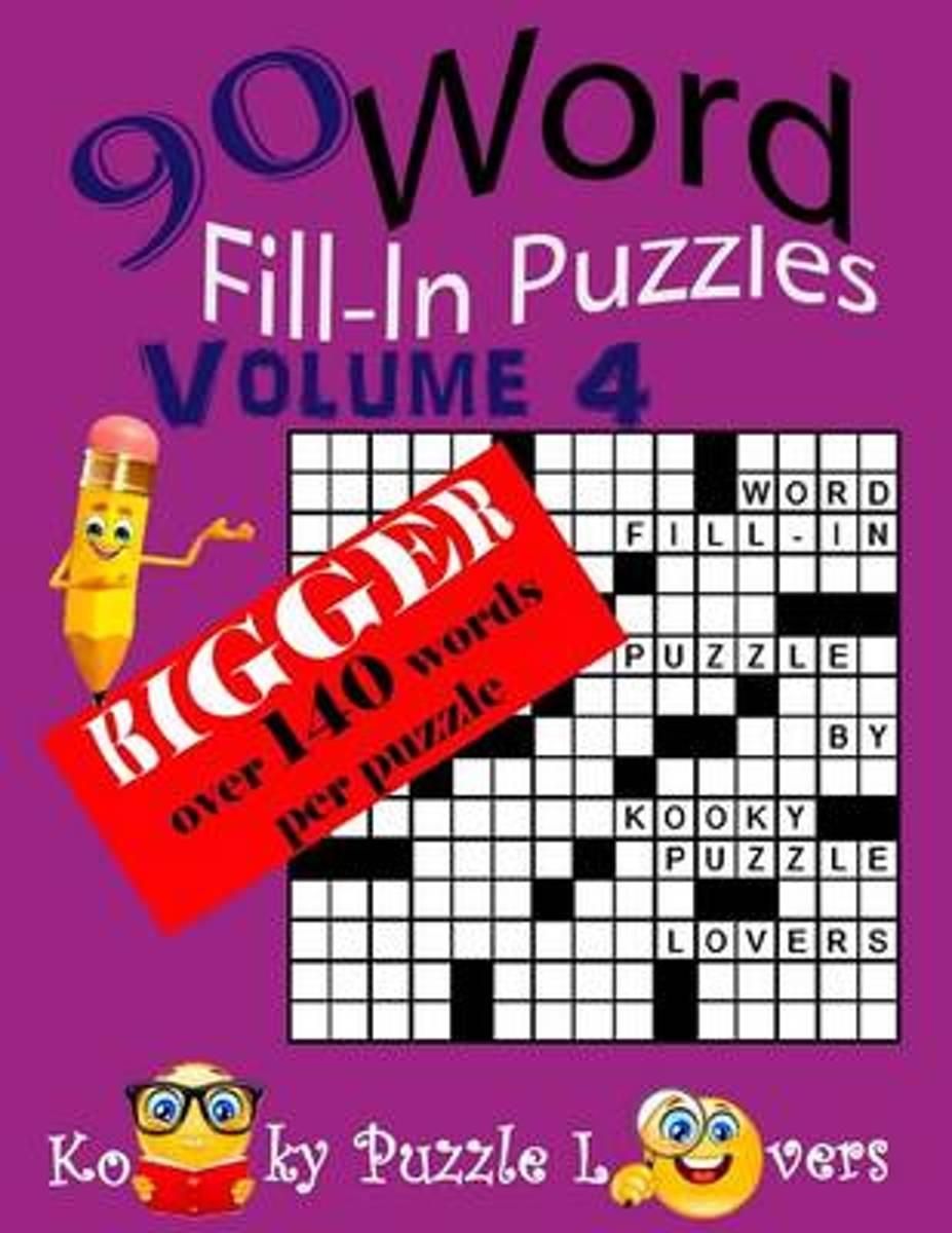 Word Fill-In Puzzles, Over 140 Words Per Puzzles