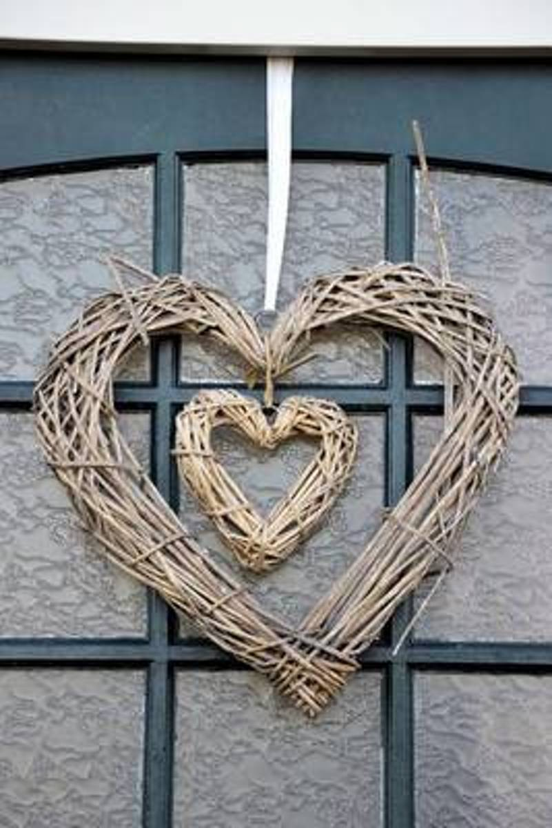 Rustic Double Heart Grapevine Wreath