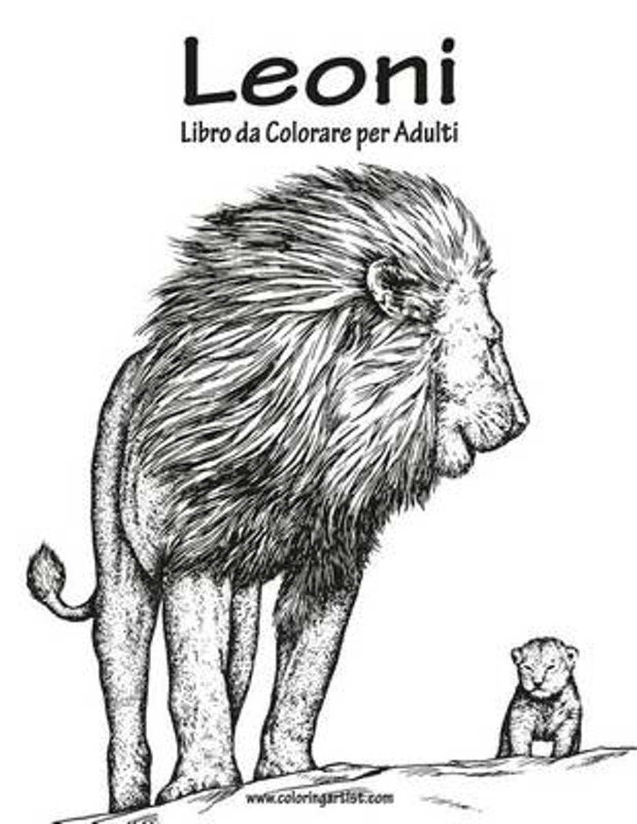 Leoni Libro Da Colorare Per Adulti 1