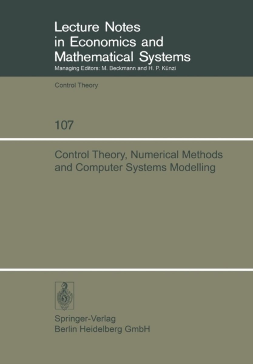Control Theory, Numerical Methods and Computer Systems Modelling
