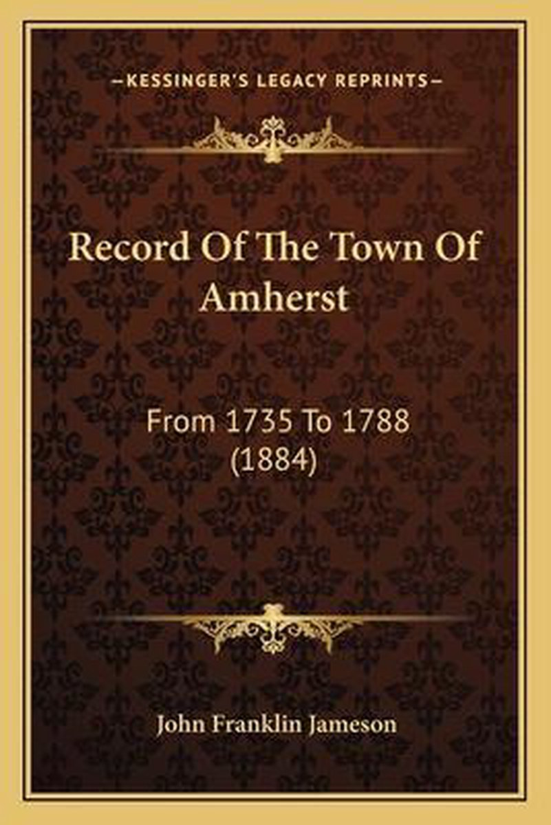 Record of the Town of Amherst