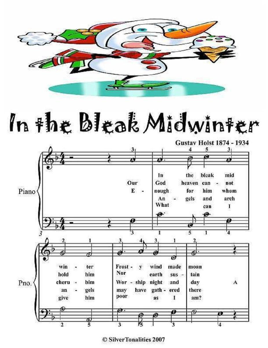 In the Bleak Midwinter - Easy Piano Sheet Music Junior Edition