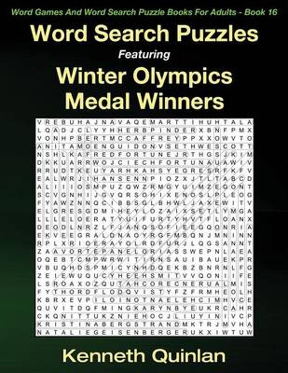 Word Search Puzzles Featuring Winter Olympics Medal Winners