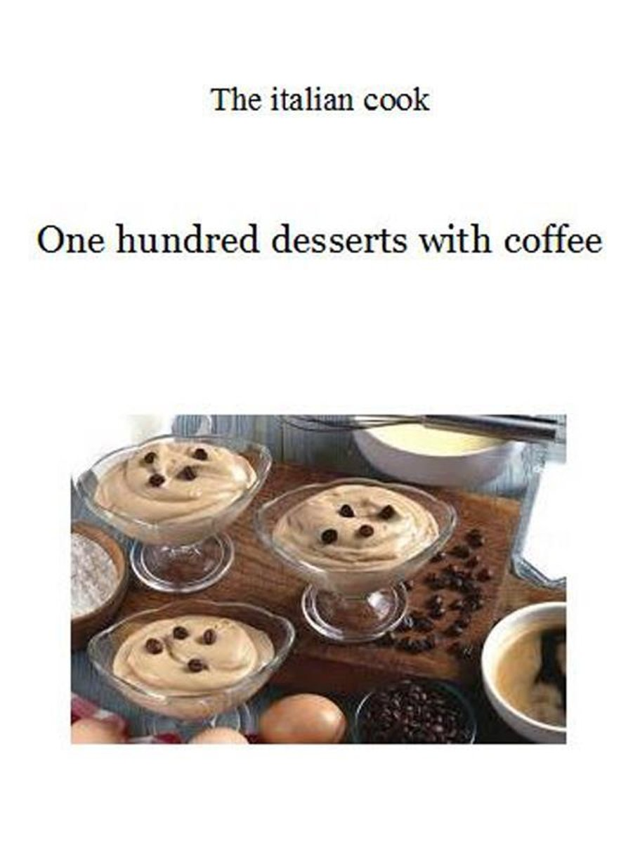 One hundred desserts with coffee