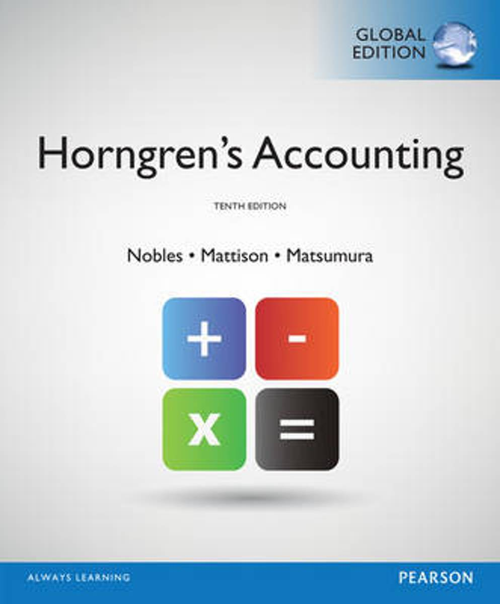 Horngren's Accounting, Global Edition