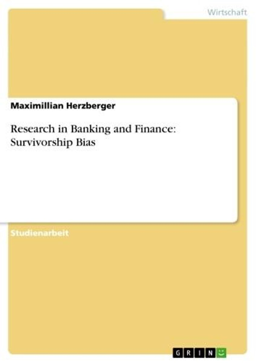 Research in Banking and Finance: Survivorship Bias