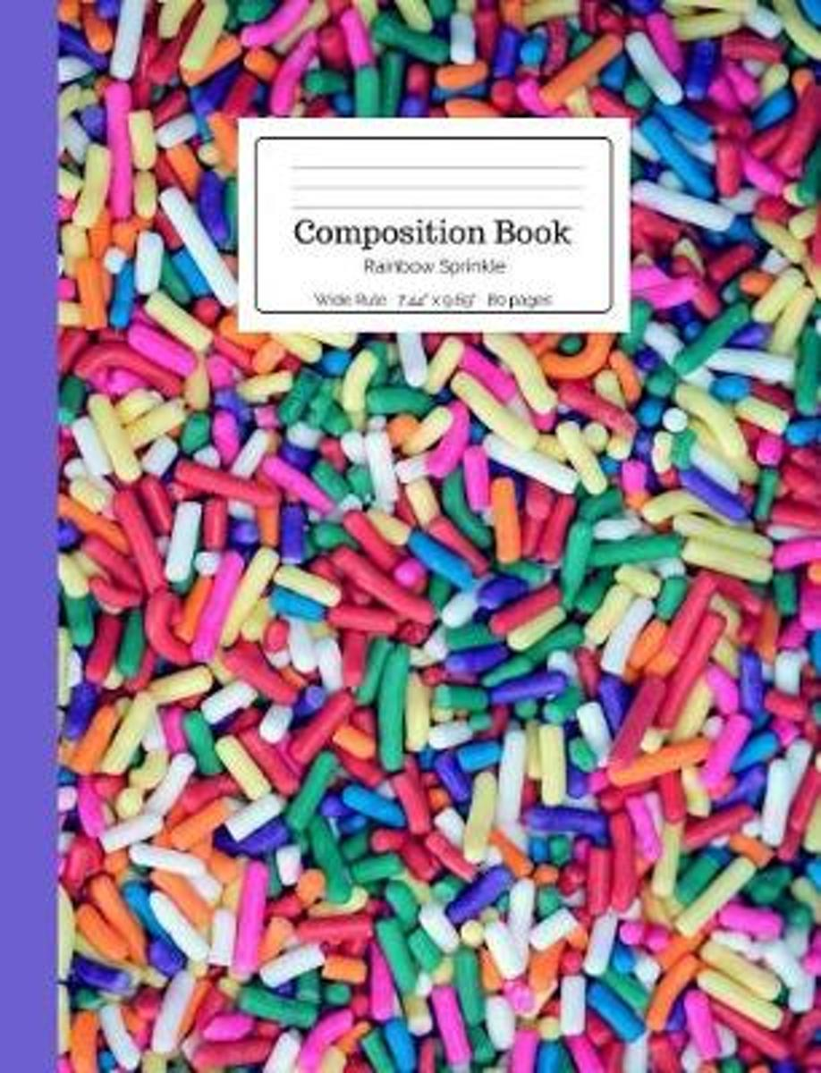 Composition Book Rainbow Sprinkle
