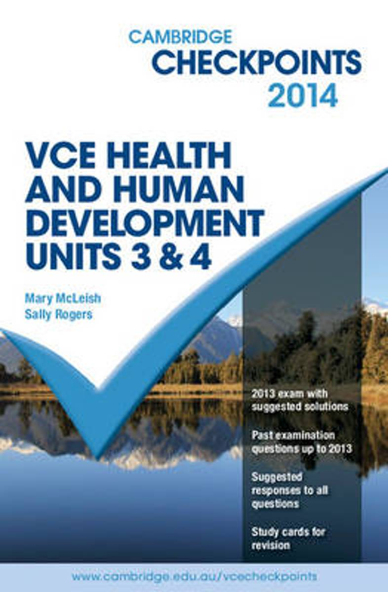 Cambridge Checkpoints VCE Health and Human Development Units 3 and 4 2014