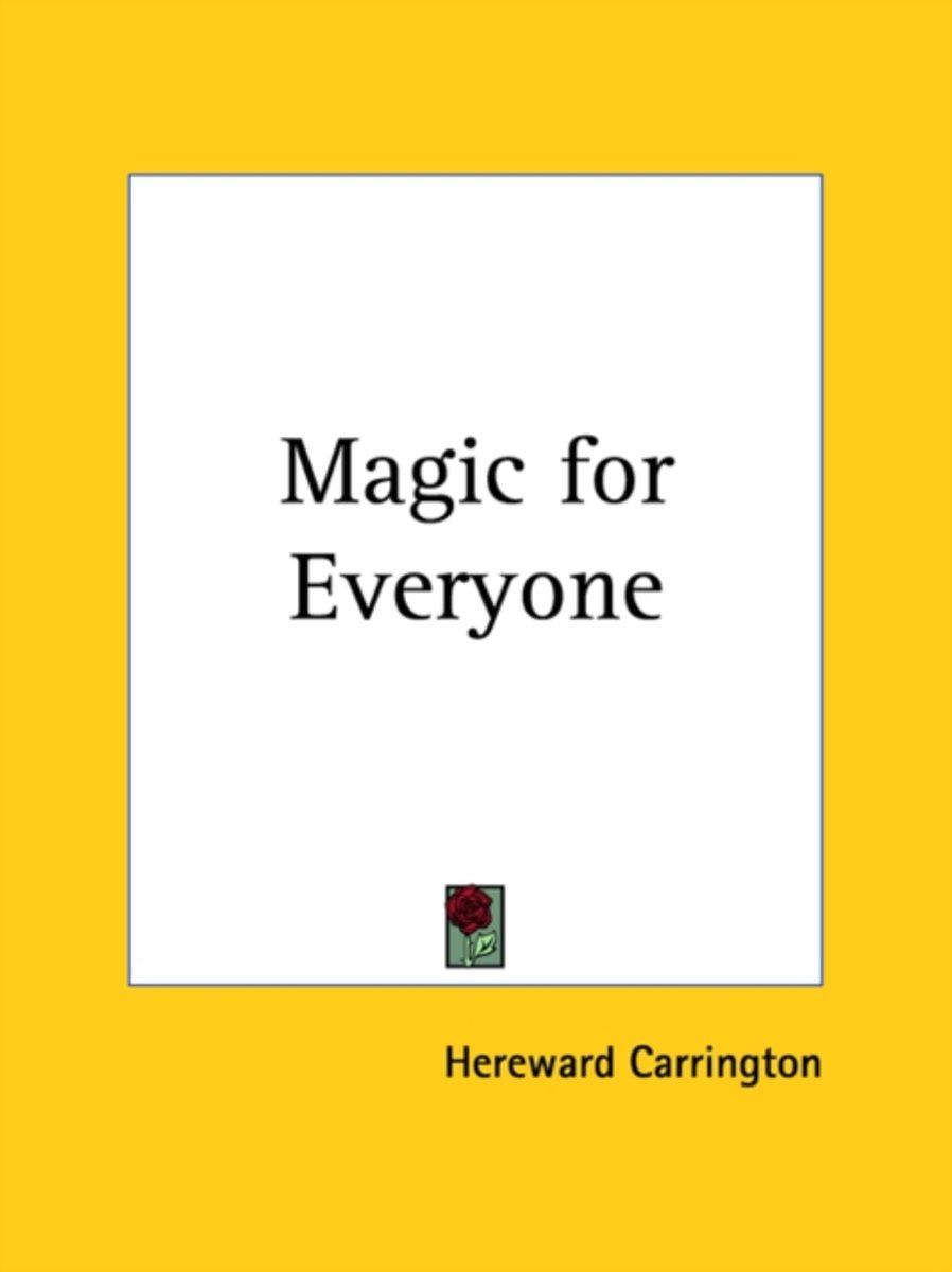 Magic For Everyone (1920)