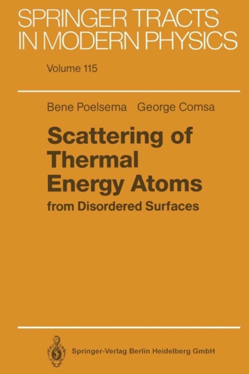Scattering of Thermal Energy Atoms