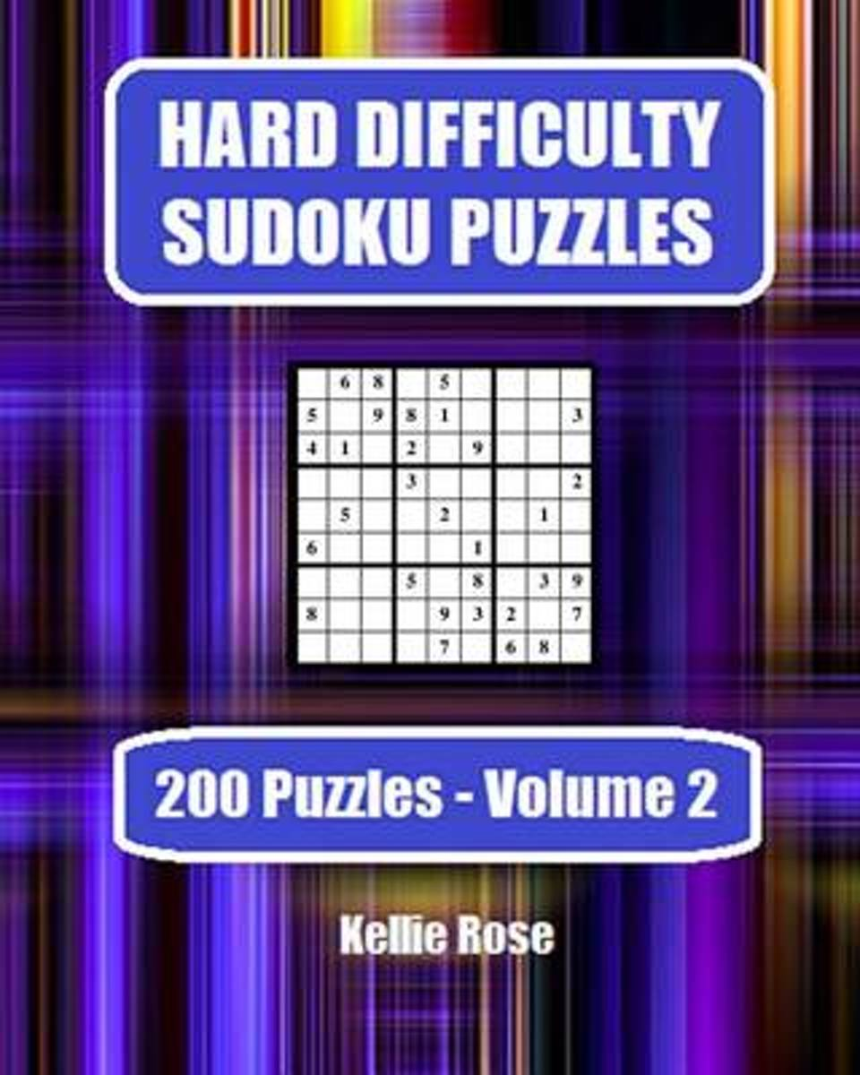Hard Difficulty Sudoku Puzzles Volume 2