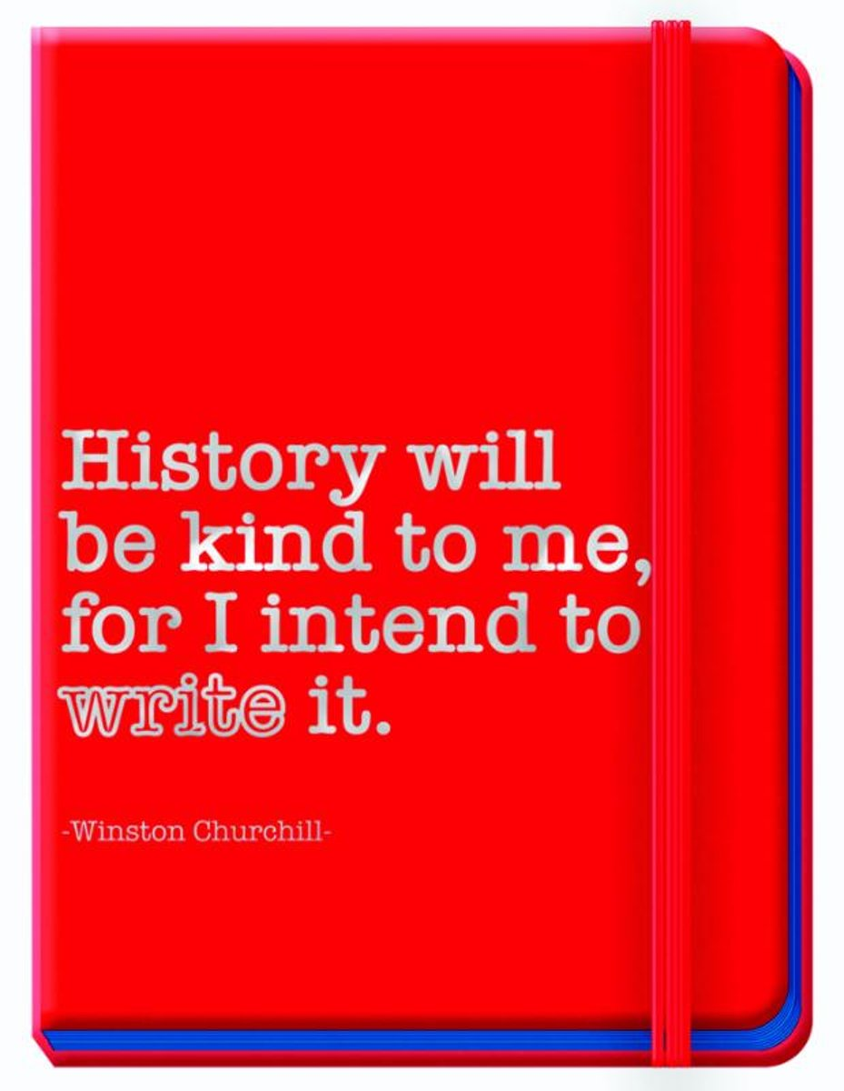 Journal Winston Churchill red