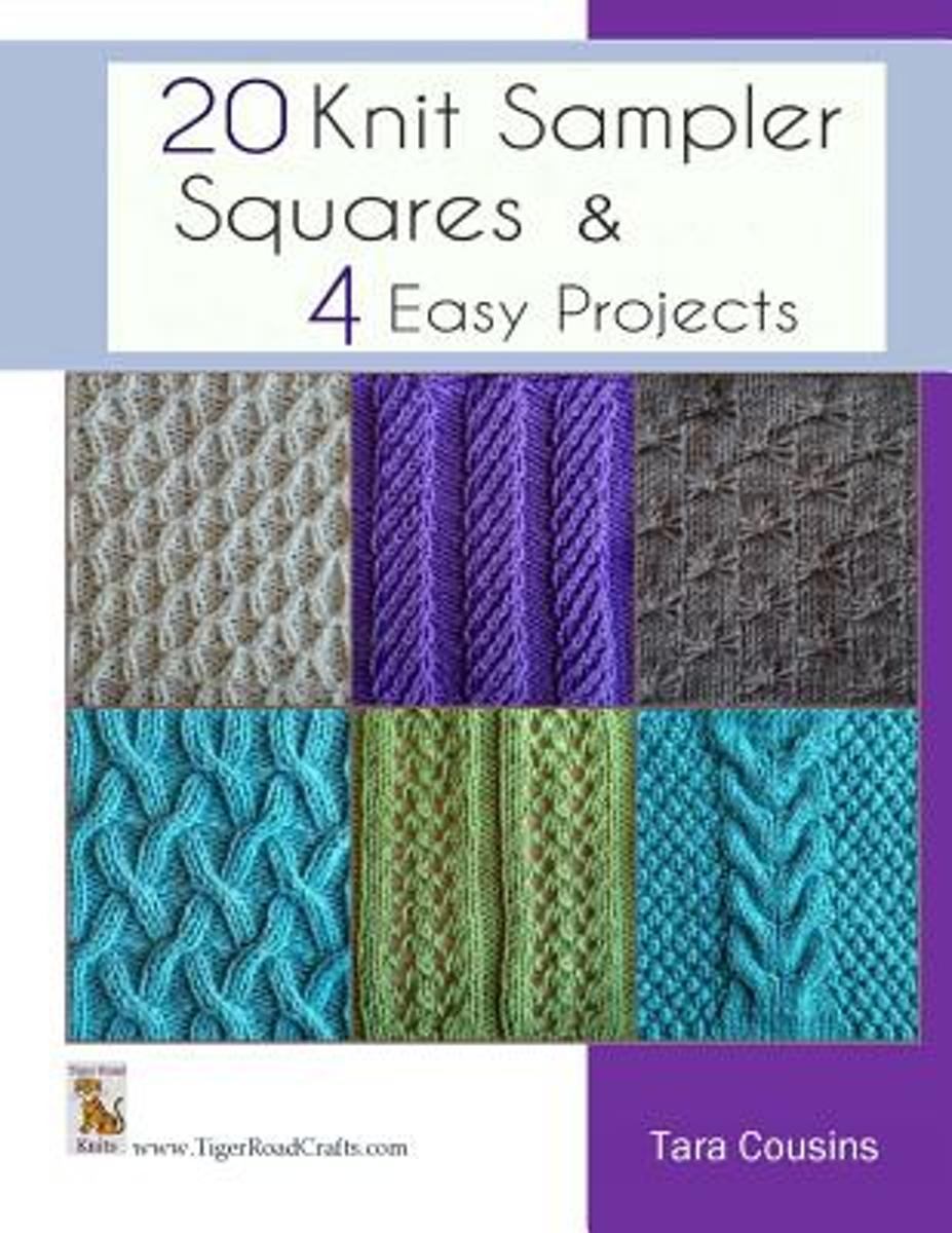 20 Knit Sampler Squares & 4 Easy Projects
