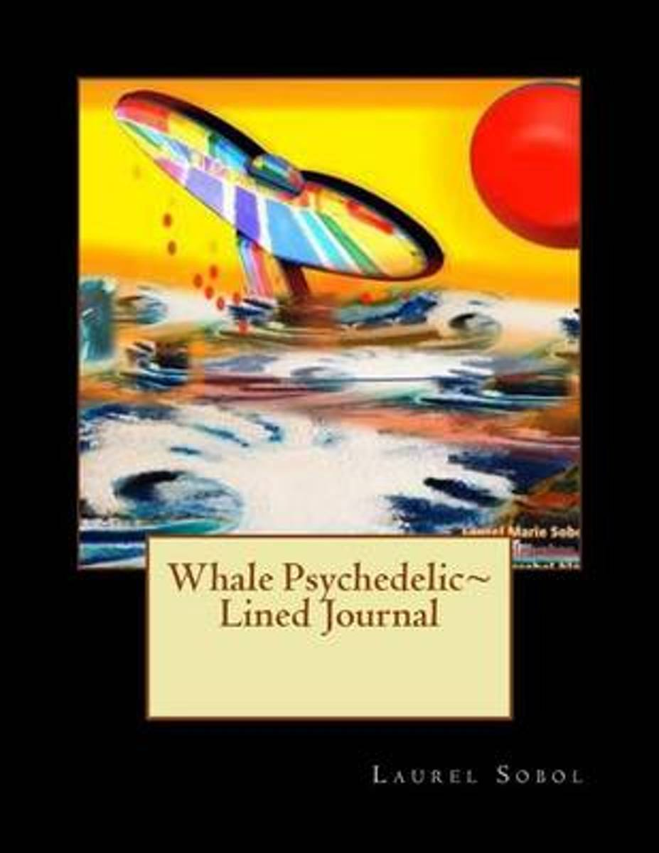 Whale Psychedelic Lined Journal