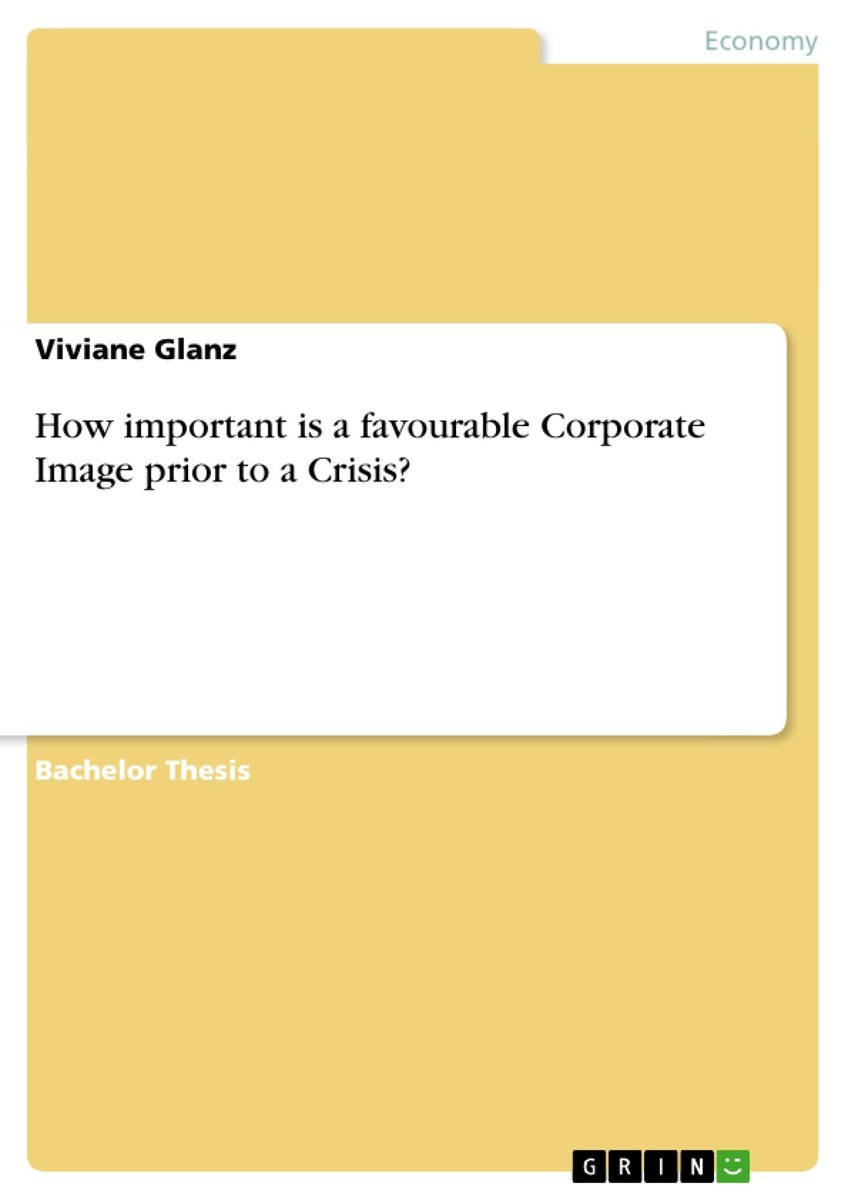 How important is a favourable Corporate Image prior to a Crisis?