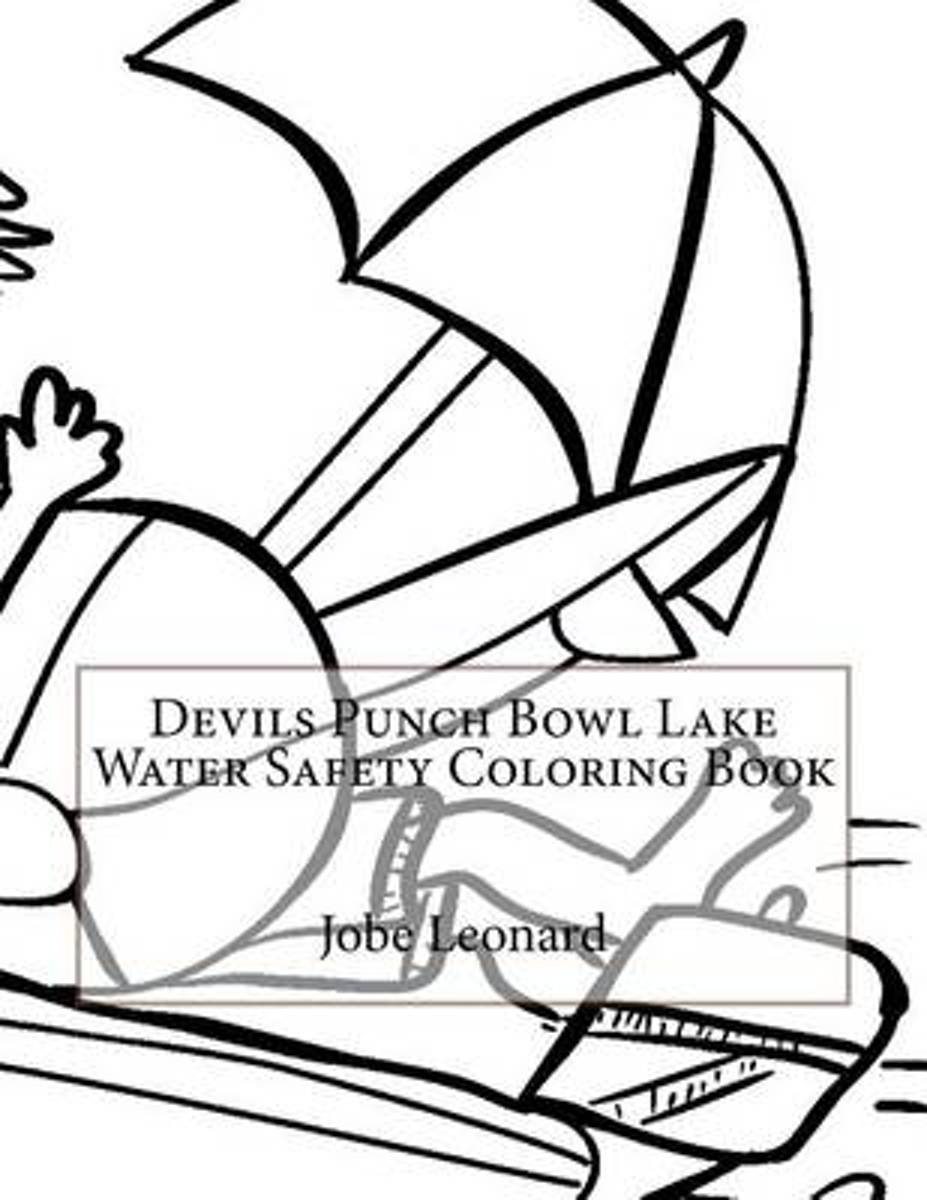 Devils Punch Bowl Lake Water Safety Coloring Book