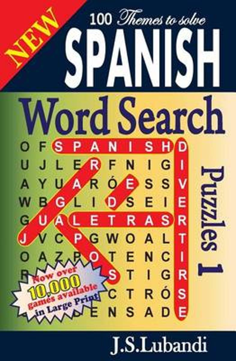 New Spanish Word Search Puzzles